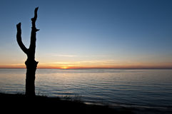 Sunset over the sea. Sunset over the baltic sea Stock Photo