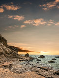 Sunset over the sea. Royalty Free Stock Photo