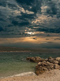 Sunset over the sea. Royalty Free Stock Photography