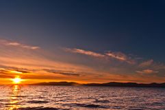 Sunset over sea Stock Image