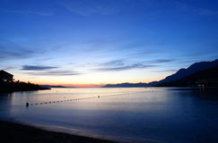 After the sunset over a sea royalty free stock photography