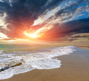 Sunset over sea Stock Photos
