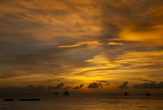 Sunset over sea Stock Photography