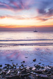 Sunset over the sea. Stock Photos