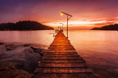Sunset over the sea. Royalty Free Stock Images