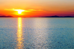 Sunset over the sea. stock photo