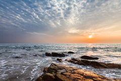 Sunset over sea Stock Images