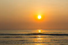 Sunset over the sea. Background Royalty Free Stock Images