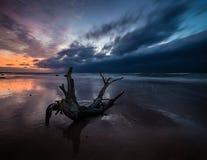 Sunset over the sea beach Royalty Free Stock Photos