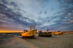 Sunset over the sea beach Stock Photo