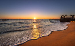 Sunset over sea. Beautiful Sunset over the sea Stock Images