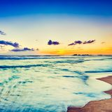 Sunset over the sea. Beautiful landscape Stock Photography