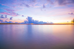 Sunset over the sea with beautiful sky Royalty Free Stock Photos