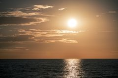 Sunset Over The Sea Royalty Free Stock Photos