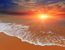 Sunset over sea coast Royalty Free Stock Photo