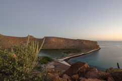 Sunset over the sea of cortez, baja california Royalty Free Stock Images