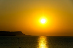 Sunset over sea , Cyprus, Ayia Napa Stock Photo