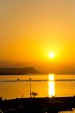 Sunset over sea , Cyprus, Ayia Napa, vertical Stock Photos