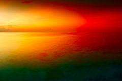 Sunset over sea dawn landscape sea tropical island Maldives Stock Photography