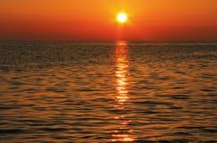 Sunset Over The Sea. Evening. Black sea seaside. Sunset Over The Sea. Evening on the seashore of Black sea seaside royalty free stock photo
