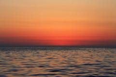 Sunset Over The Sea. Evening. Black sea seaside. Sunset Over The Sea. Evening on the seashore. Black sea seaside royalty free stock image