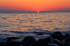 Sunset Over The Sea. Evening. Black sea seaside. Sunset Over The Sea. Evening on the seashore. Black sea seaside stock images