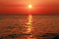 Sunset Over The Sea. Evening. Black sea seaside. Sunset Over The Sea. Evening on the seashore. Black sea seaside stock photos