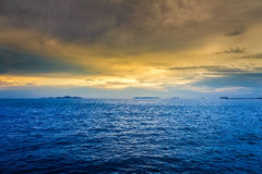 Sunset over sea Royalty Free Stock Images