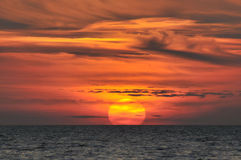Sunset over sea Greece Royalty Free Stock Images