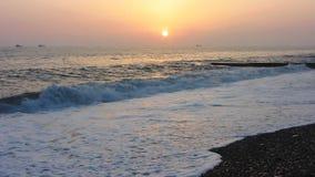Sunset over Sea stock footage