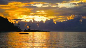 Sunset over the Sea, Indian Ocean Seychelles. Sunset over the Sea, the Indian Ocean Seychelles stock footage