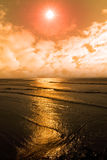 Sunset over the sea in ireland Royalty Free Stock Image