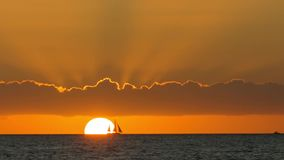 Sunset at Key West. Sunset over the sea at Key West, Florida stock video
