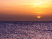 Sunset over sea at Montego Bay, Jamaica. Stock Images