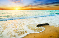 Sunset over sea. Nature composition Royalty Free Stock Photo