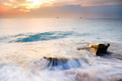 Sunset over sea. Nature composition Stock Image