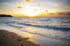 Sunset over sea. Nature composition Royalty Free Stock Image