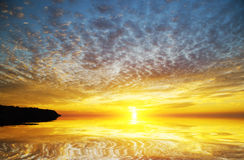 Sunset over sea. Nature composition Stock Photo