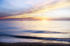Sunset over sea. Nature composition Royalty Free Stock Photos