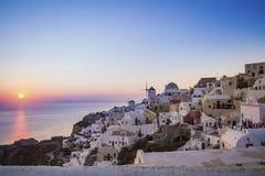 Sunset at Oia, santorini. Royalty Free Stock Image