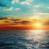 Sunset over sea Royalty Free Stock Image
