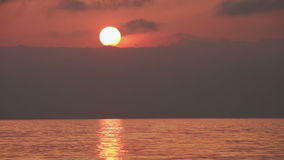 Sunset over the Sea stock video footage