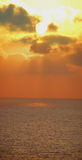 Sunset over sea panorama royalty free stock photo
