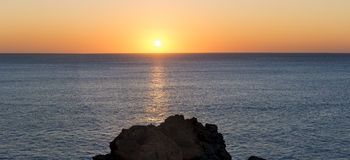 Sunset over sea panorama Royalty Free Stock Images