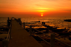 the sunset over sea in Phi Phi Stock Image