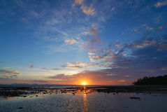 Sunset over the sea, Phuket,Thailand Royalty Free Stock Photos