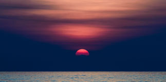 Sunset Over the Sea. Stock Image