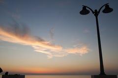 Sunset over the sea at Rodi Garganico (Apulia) Stock Images