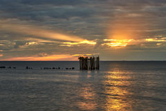 Sunset over the sea in sammer Stock Images