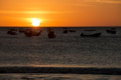 Sunset over the sea in San Juan del Sur, Nicaragua Stock Photo